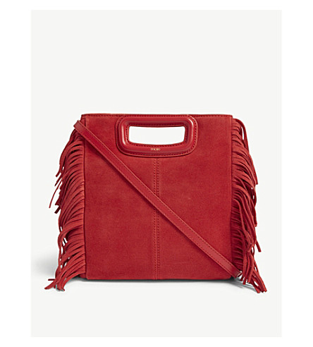 MAJE - Bag-suede bag with fringes   Selfridges.com ff4f14d9ee