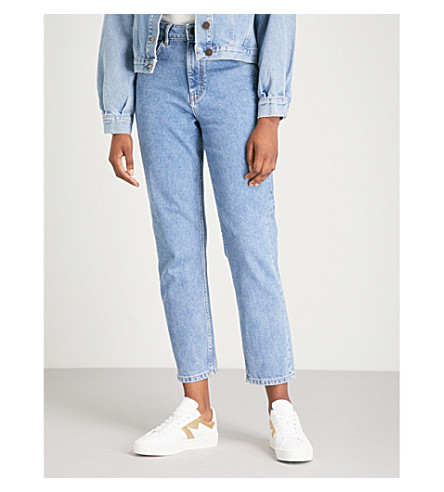 MAJE Pario washed-out denim jeans (Denim