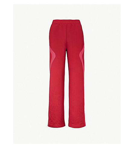 MAJE High-rise sports-jersey jogging bottoms (Raspberry