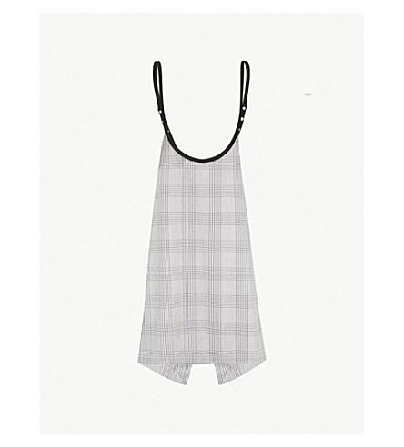 MAJE Houndstooth-print woven dress (Carreaux