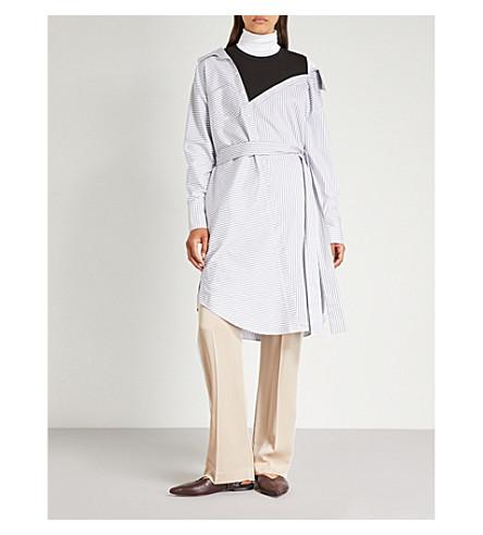 MAJE Riava deconstructed cotton shirt dress (Rayure