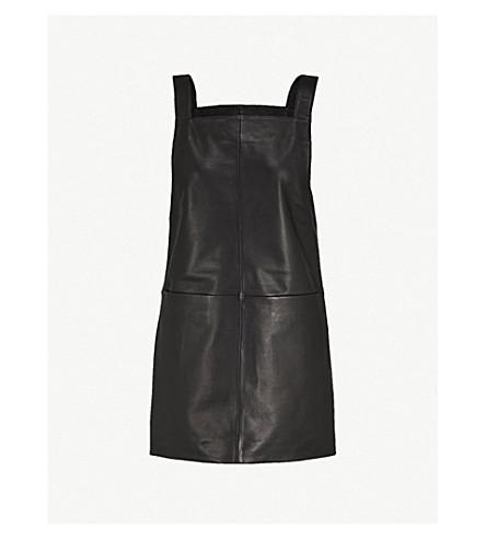 MAJE Leather dress (Black+210