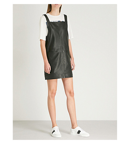 MAJE Leather dress (Black+210