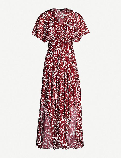 MAJE Richelle printed crepe dress 0674a11536cc