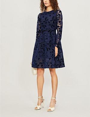 Dress Print Crepe Rayine Floral Maje Yqg4Px