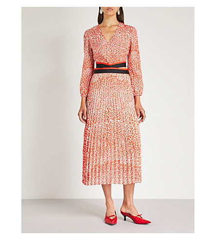 MAJE Romilda leopard-print cut-out dress (Printed