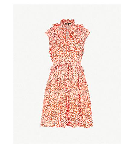 MAJE Rutti leopard-print chiffon mini dress (Printed