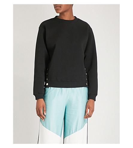 MAJE Dream Tomorrow cotton-blend sweatshirt (Black+210
