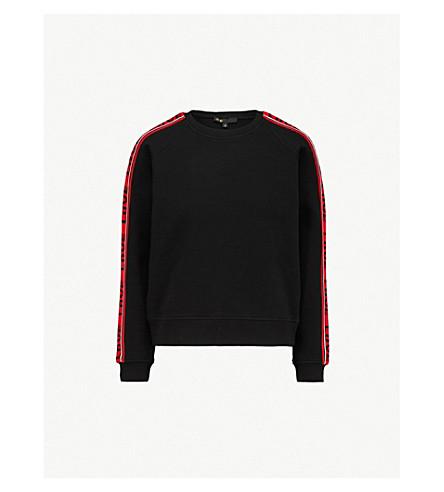 MAJE Love cotton-blend sweatshirt (Black