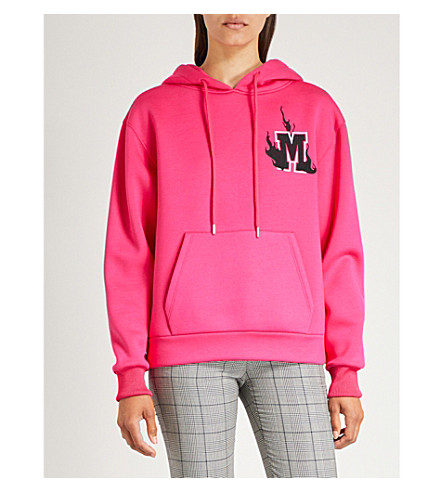 MAJE Trinita M logo jersey hoody (Fuschia