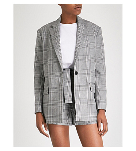 Vaime checked woven jacket
