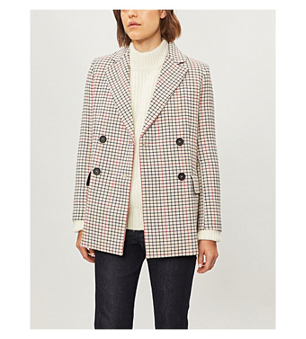 Checked woven jacket(H18VOLDI)