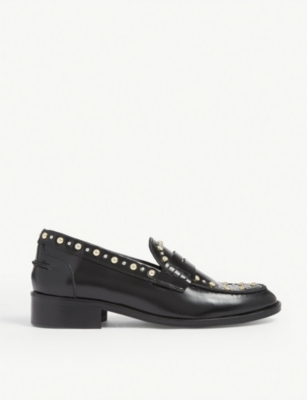 Freddy studded leather loafers(8148995)