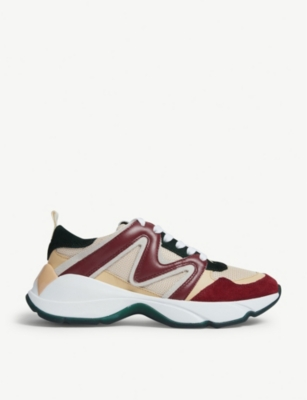 W22 mesh and leather trainers(8118082)