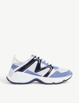 W22 mesh and leather trainers(8118090)