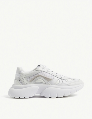 Faster leather trainers(8118098)