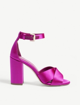 Forigama satin heeled sandals(8118011)