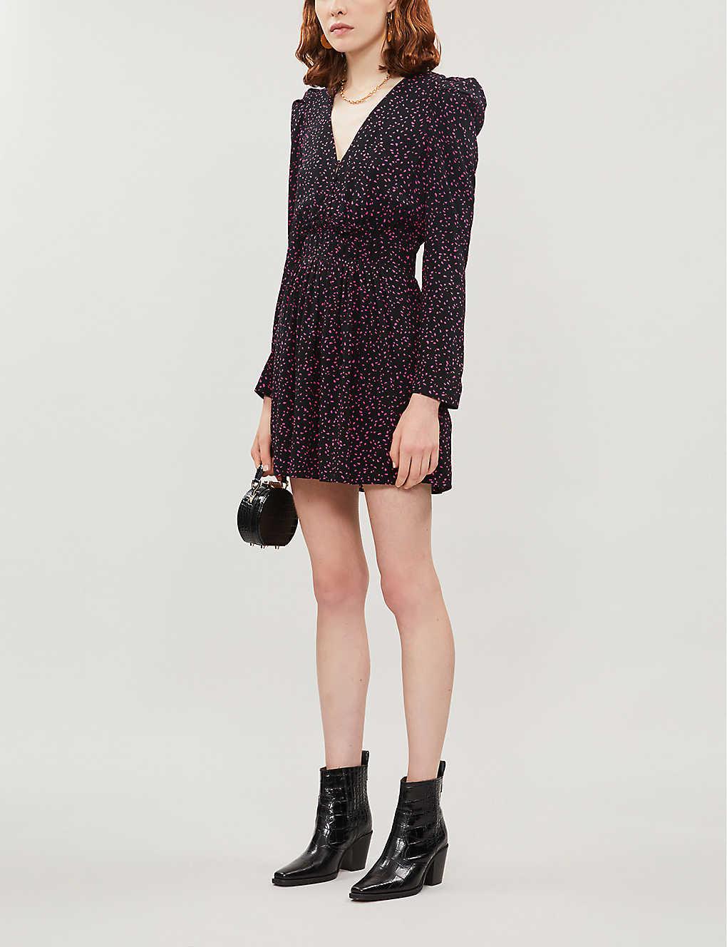 Iko polka-dot crepe mini dress(8135617)