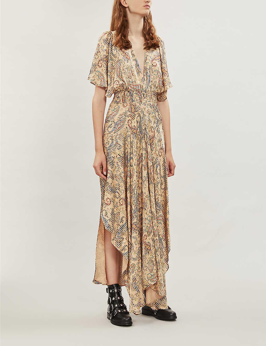 Rachel paisley-print satin dress(8123868)