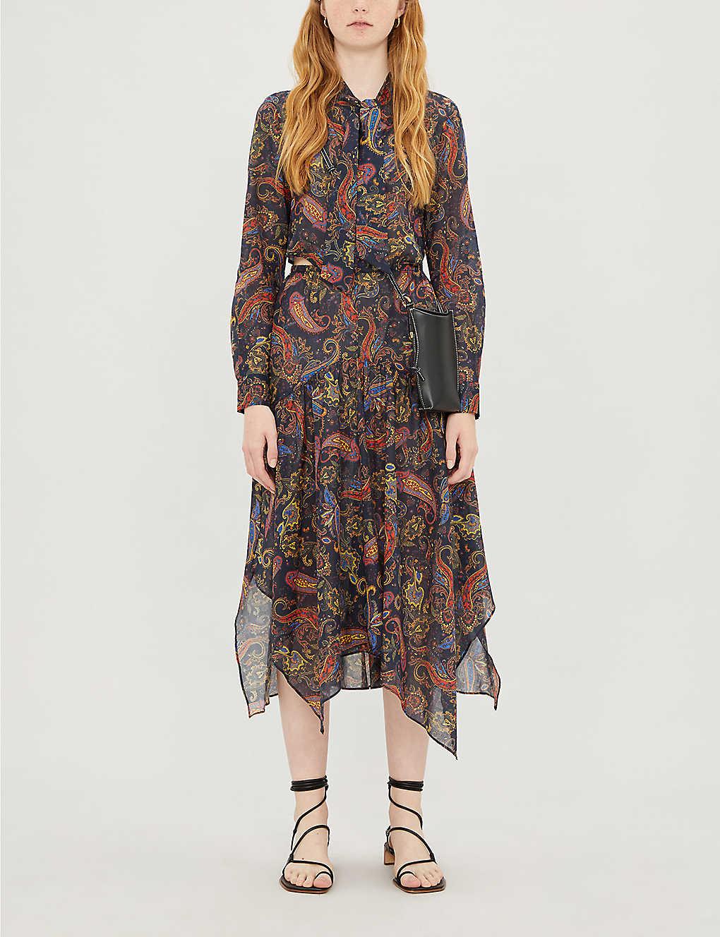 Paisley-print cotton dress(8123853)