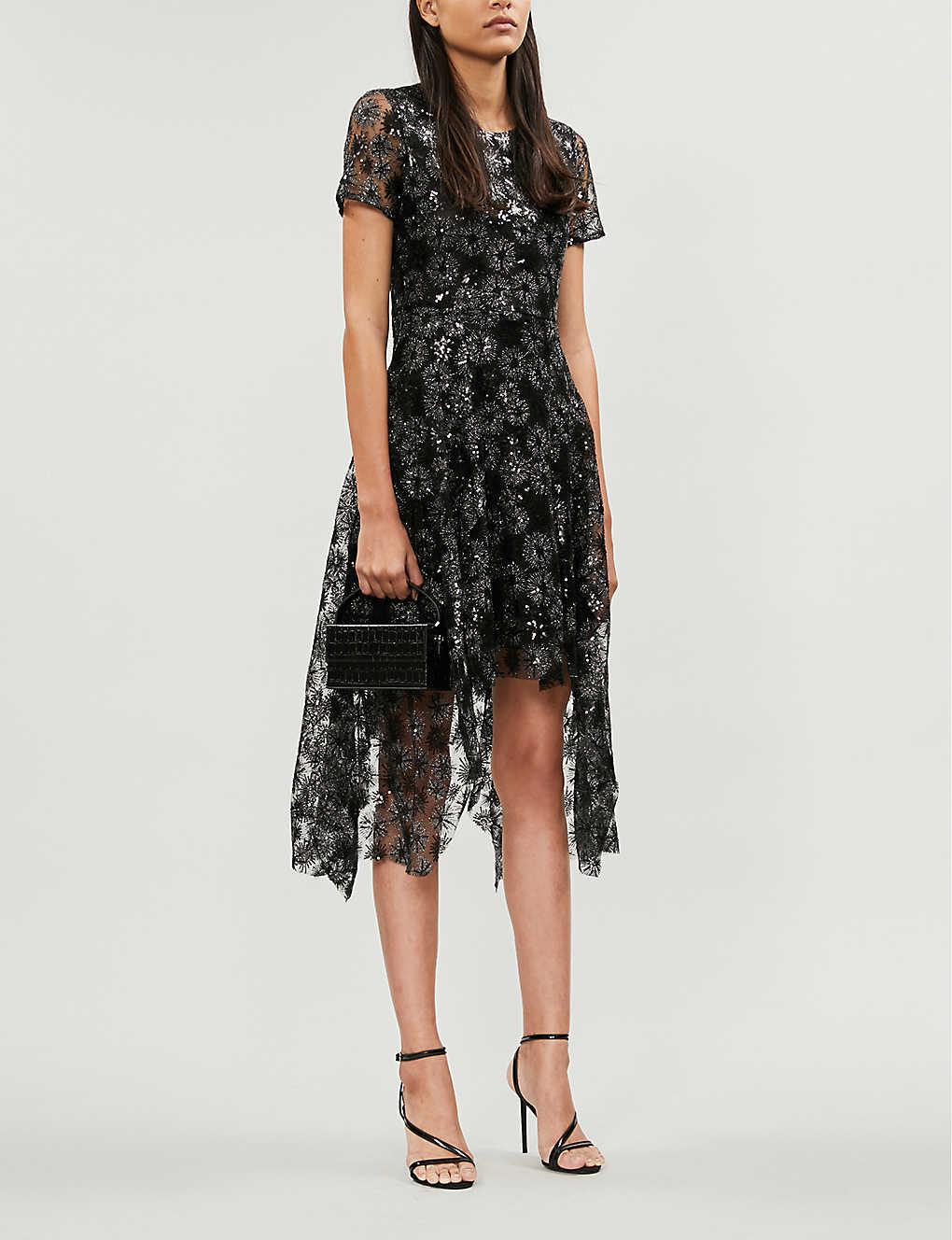 Rizia sequin-embellished tulle mini dress(8184226)