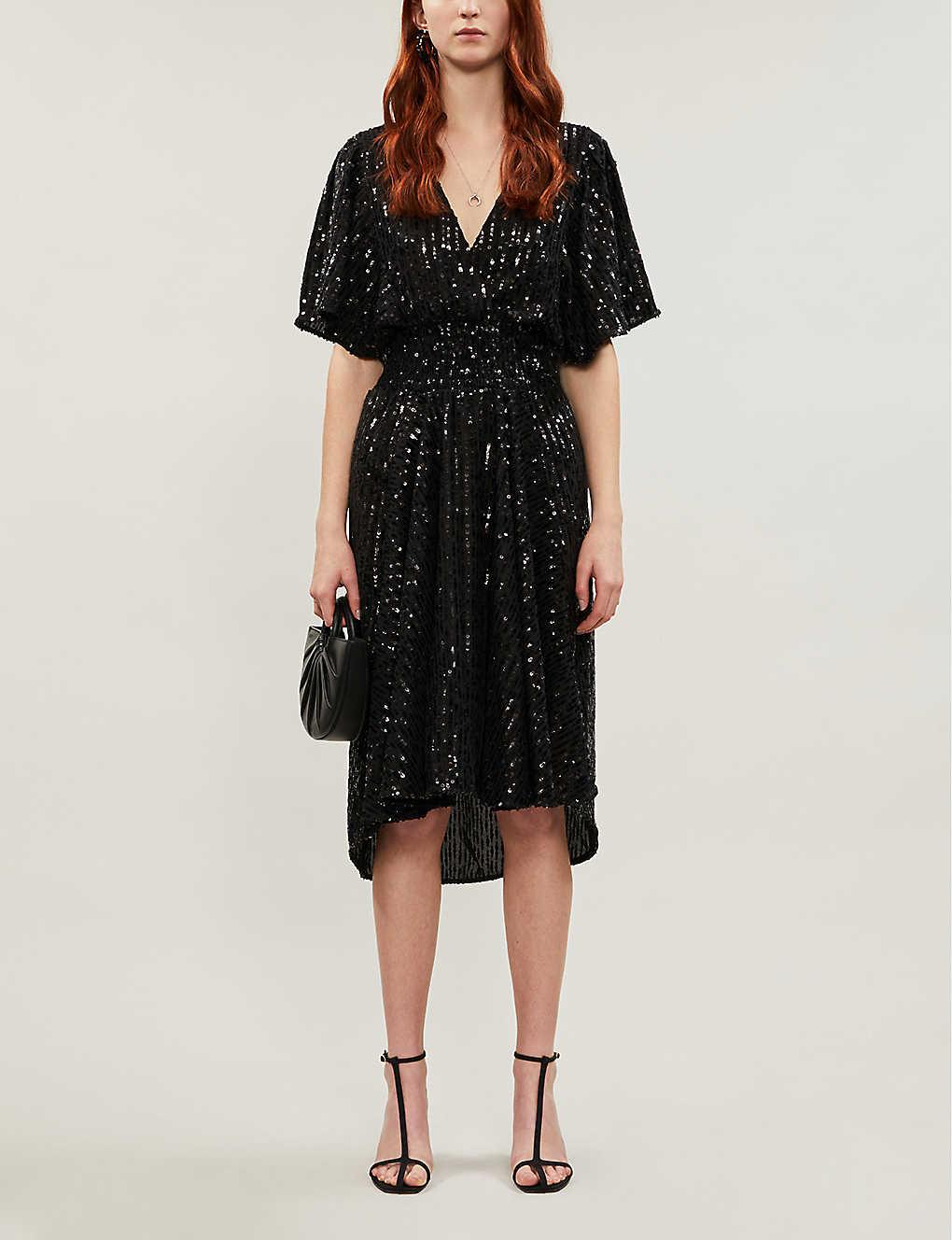 Sequin-embellished midi dress(8308351)