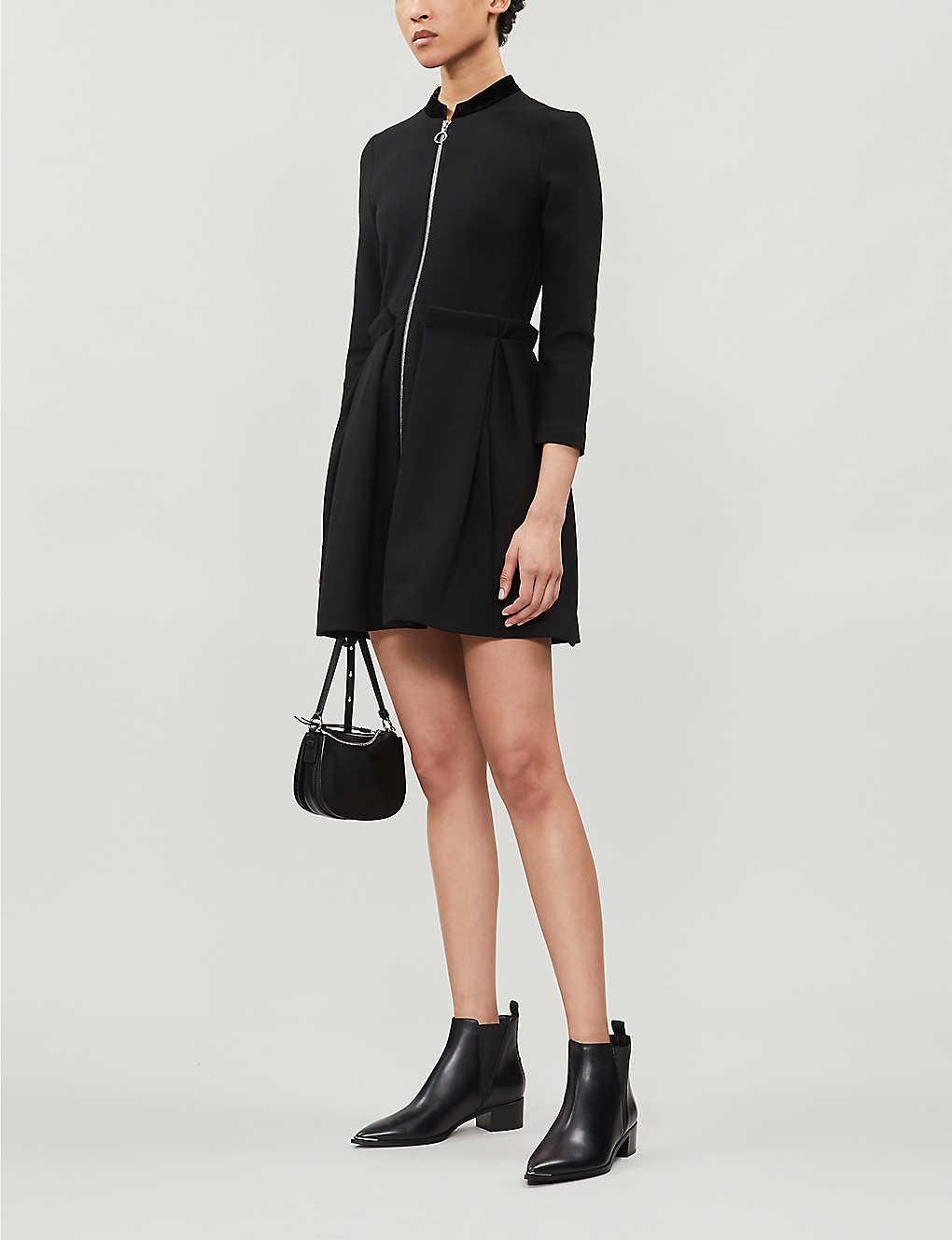 Raneline zipped twill mini dress(8184277)