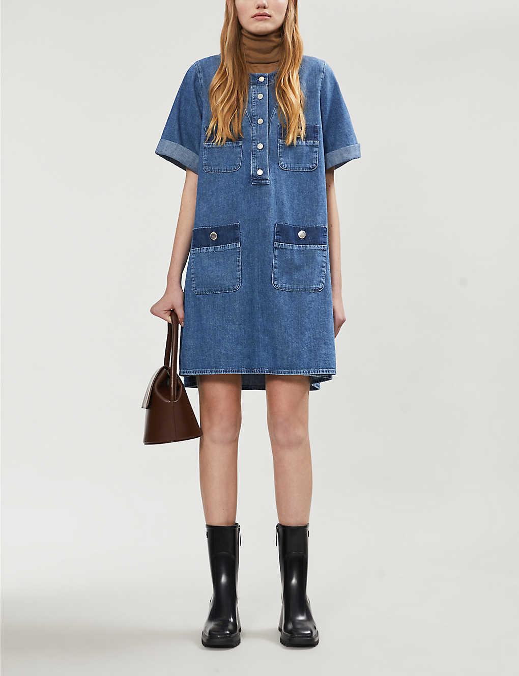 Rime denim mini dress(8315424)