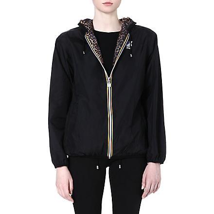 MAJE Claudette reversible leopard-print jacket (Black
