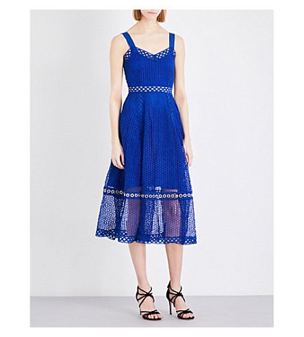 MAJE Rita lace dress (Bleu