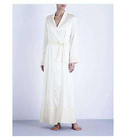 LA PERLA Silk essence long stretch-silk robe (Natural