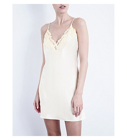 LA PERLA Maison silk-blend slip (Natural
