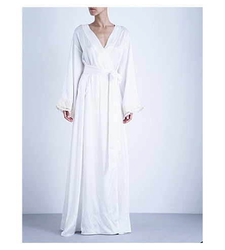 LA PERLA Maison stretch-silk robe (Natural