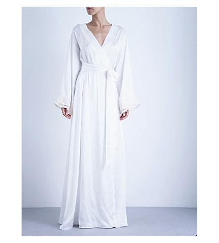 la perla maison stretch silk robe selfridges