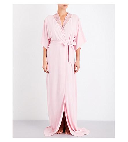 LA PERLA Stolen Roses lace robe (Pink
