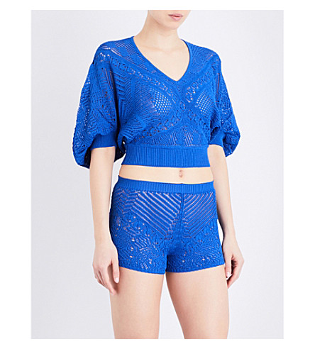 LA PERLA Beyond The Beach knitted top (Dark+blue