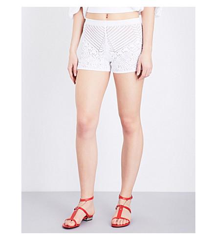 LA PERLA Beyond The Beach knitted shorts (White