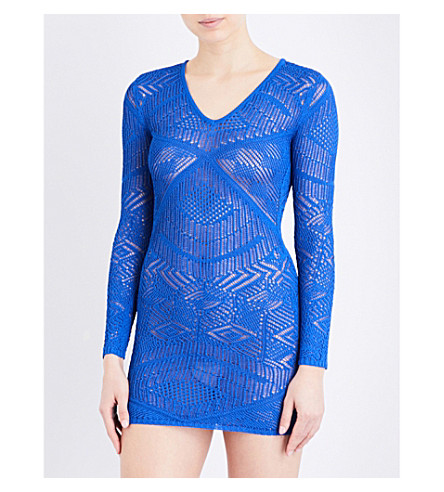 LA PERLA Beyond The Beach knitted dress (Dark+blue