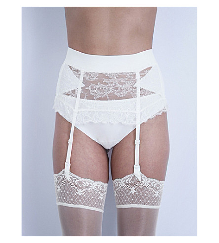 LA PERLA Shape-Allure lace suspender belt (Ivory