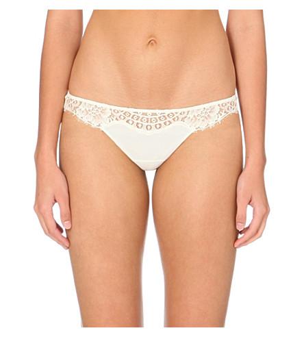 LA PERLA Freesia lace thong (Ivory