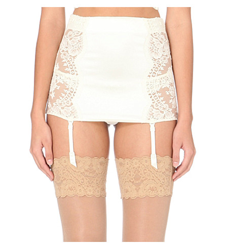 LA PERLA Freesia suspender belt (Ivory