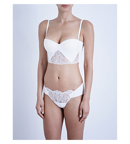 LA PERLA Shape-Allure lace brassiere (Ivory