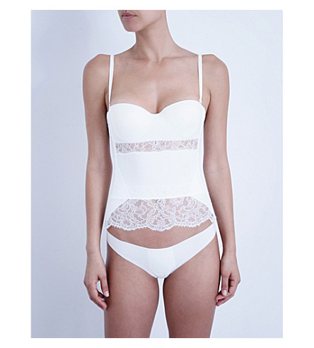 LA PERLA Shape-Allure lace corset (Ivory