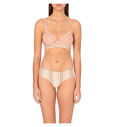 LA PERLA Tulle Nervures underwired bra (Pink+ombre