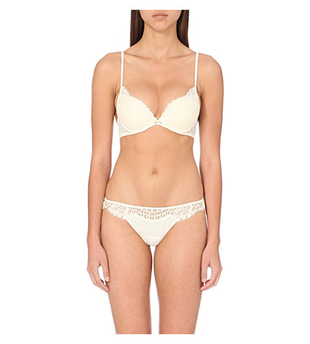 LA PERLA Freesia American lace padded bra (Ivory