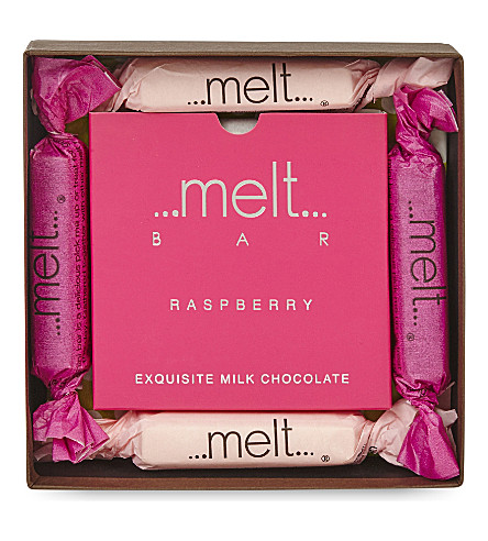 MELT Raspberry chocolate bar gift box