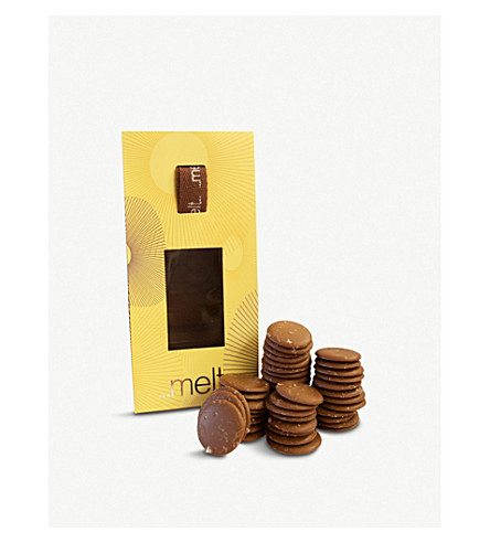 MELT Milk chocolate sea salted discs 120g