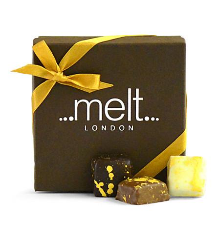 MELT Sea-salted milk chocolate box of 18 90g