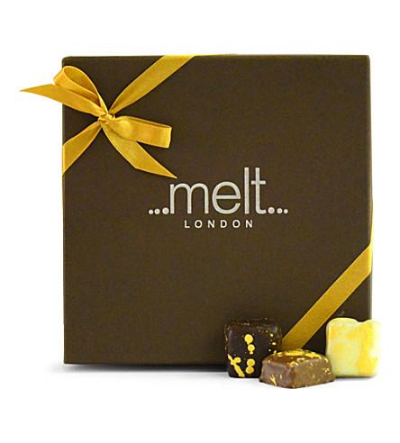 MELT Sea-salted milk chocolate box of 25