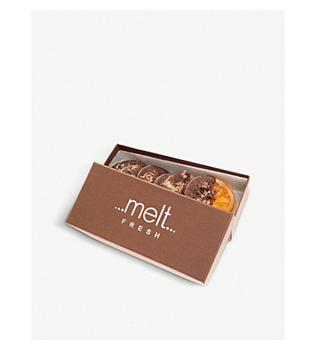 MELT Dark chocolate orange slices box of nine
